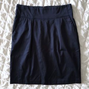 Banana Republic Navy Blue Pencil Skirt